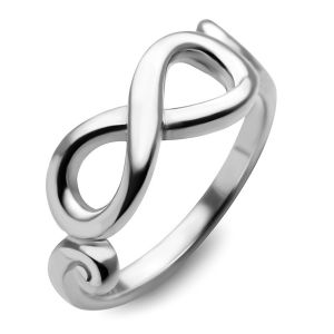 925 Sterling Silver Infinity Endless Love Symbol Promise Engagement Wedding Band Ring Size 8